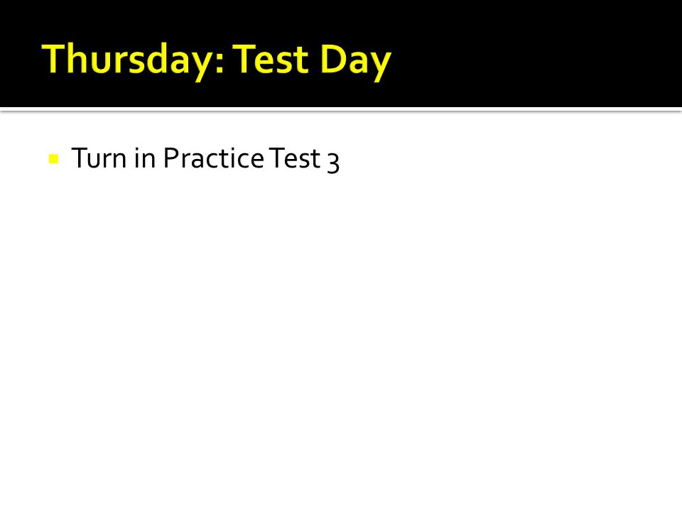  Turn in Practice Test 3