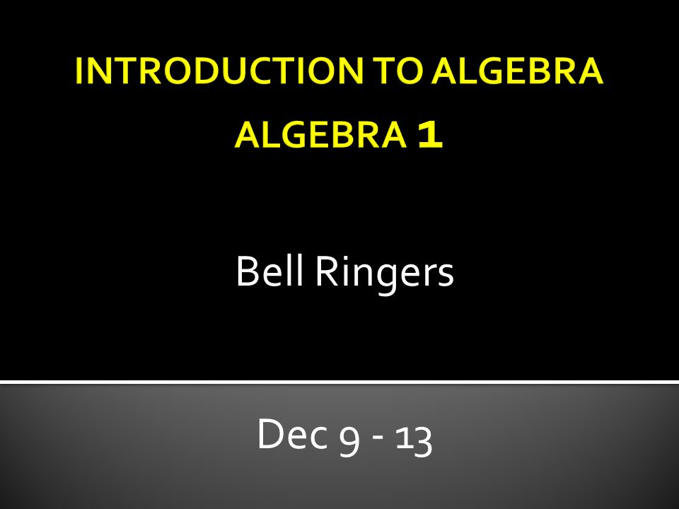 Bell Ringers Dec 9 - 13