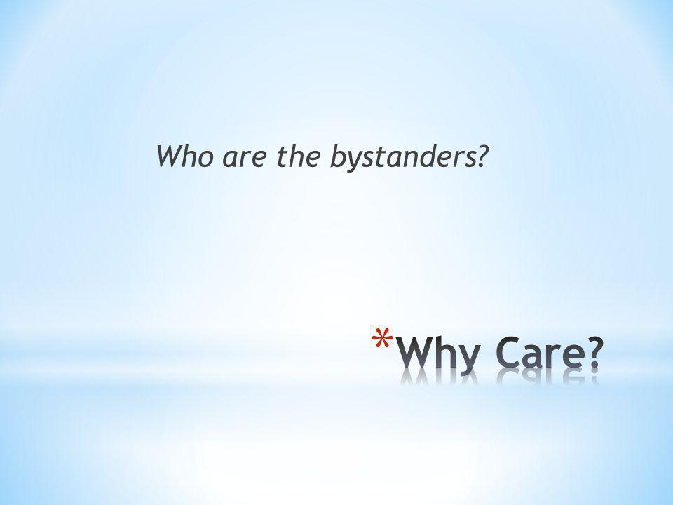 What would you do if you were a bystander?