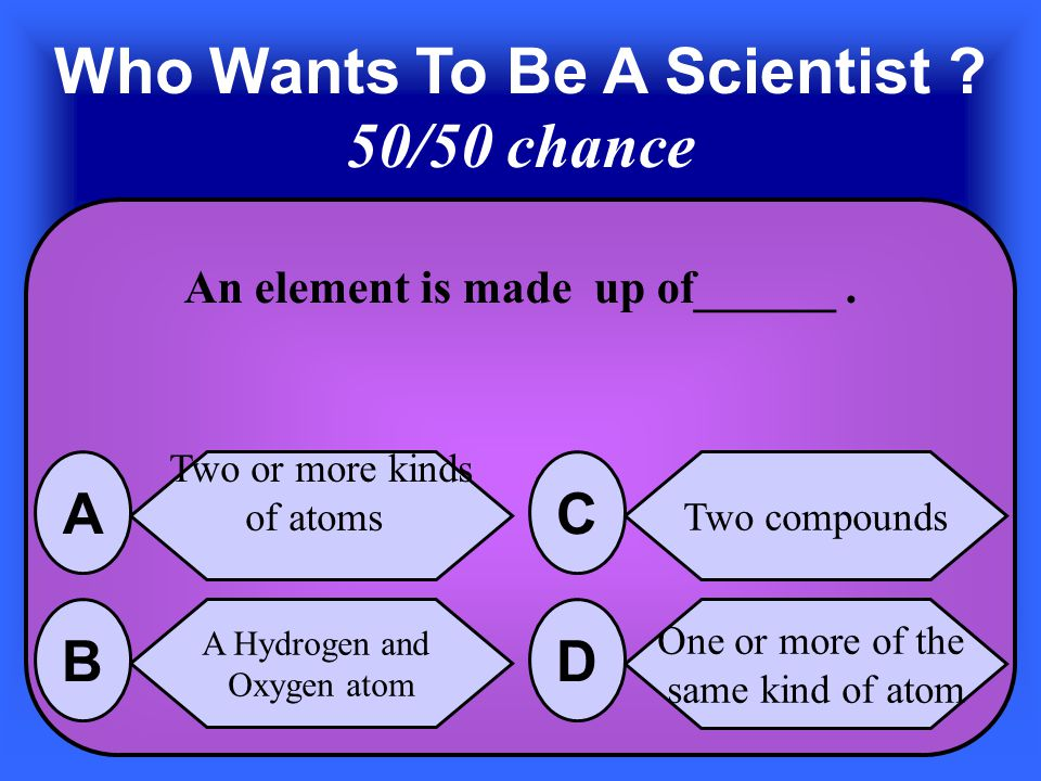 The Answer is Solid, Liquid, and Gas C