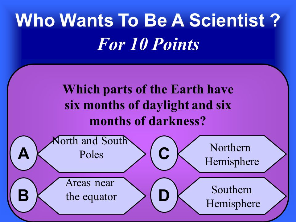 The Answer is The tilt of the Earth's Axis D
