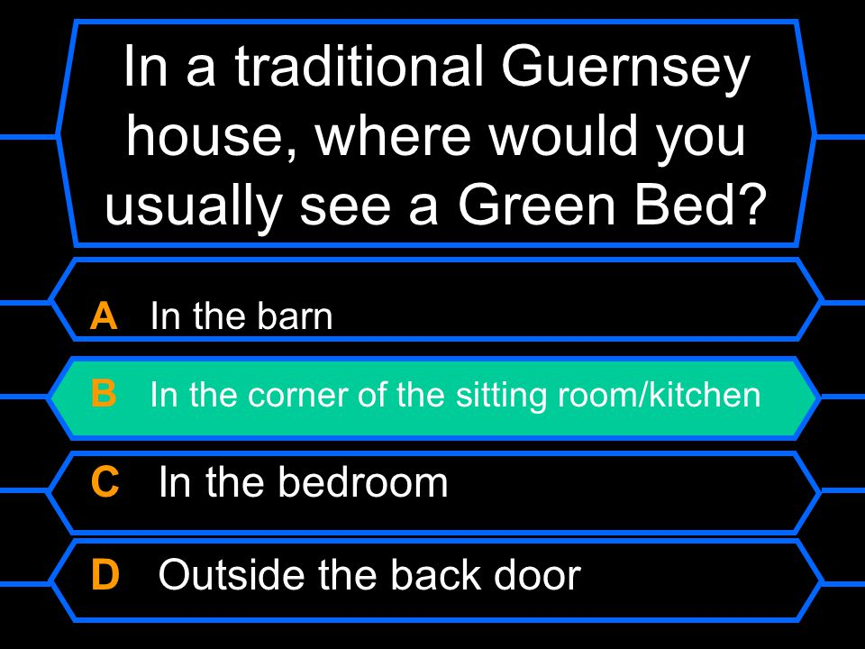 In a traditional Guernsey house, where would you usually see a Green Bed.