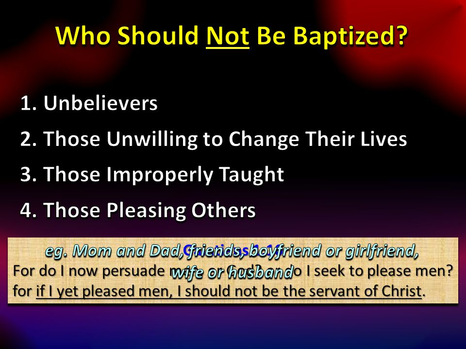 Galatians 1:10 For do I now persuade men, or God? or do I seek to please men? for if I yet pleased men, I should not be the servant of Christ. Galatia