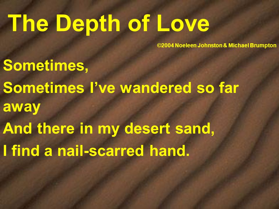 Soaking, Soaking my soul in your desert rain Your Spirit comforts me Flood that restores my soul