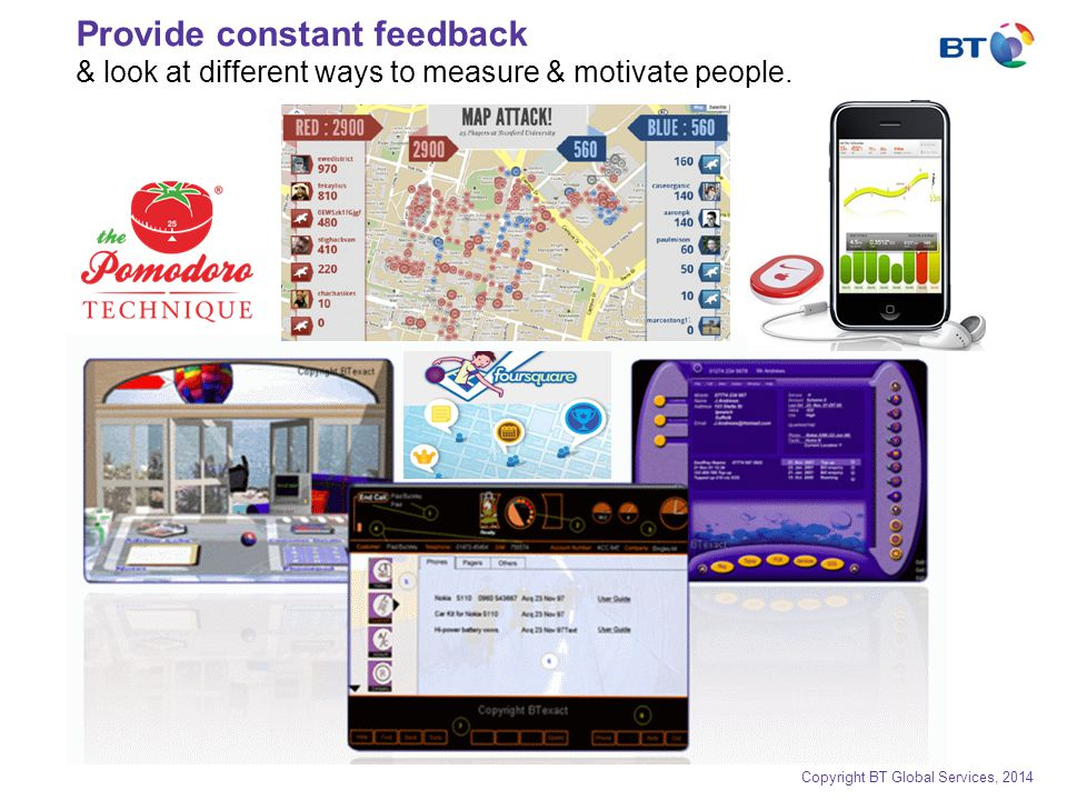 Provide constant feedback & look at different ways to measure & motivate people.