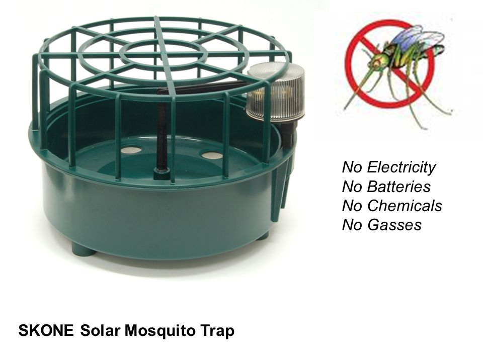 SKONE Solar Mosquito Trap No Electricity No Batteries No Chemicals No Gasses