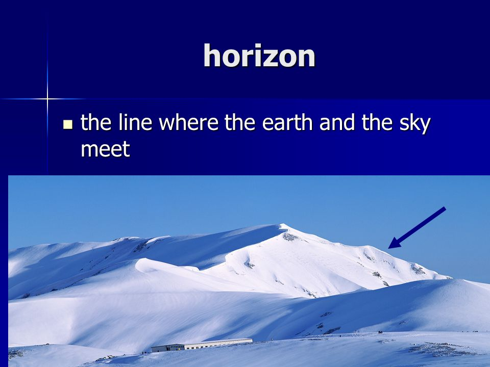 horizon the line where the earth and the sky meet the line where the earth and the sky meet