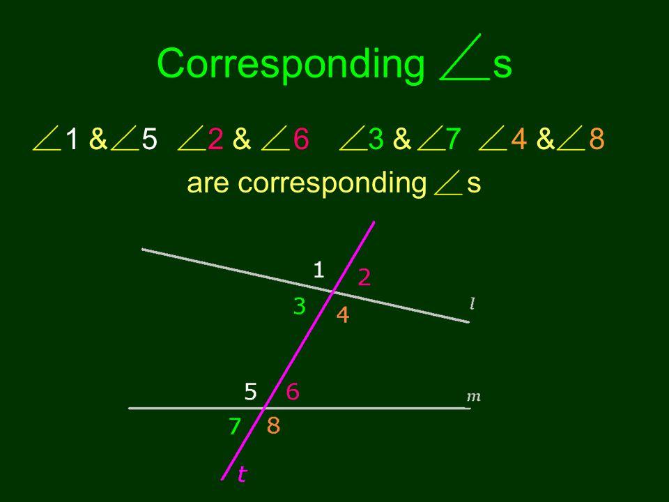 Corresponding s 1 & 5 2 & 6 3 & 7 4 & 8 are corresponding s