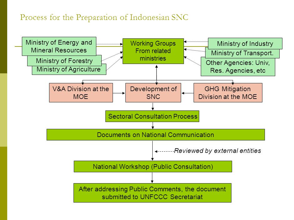 Process for the Preparation of Indonesian SNC Other Agencies: Univ, Res.
