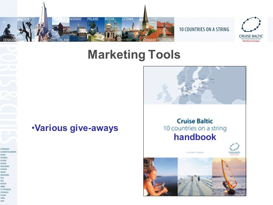 Marketing Tools handbook Various give-aways