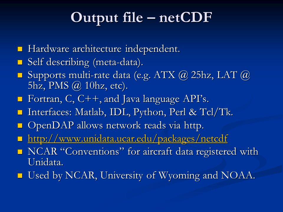 Self-describing (netCDF)