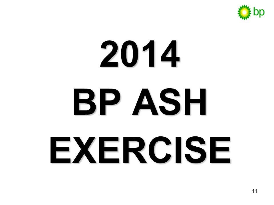 11 2014 2014 BP ASH BP ASH EXERCISE EXERCISE
