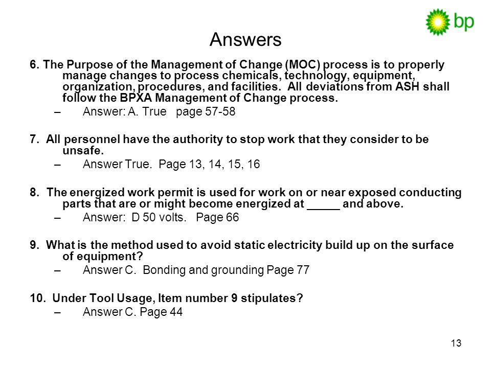 13 Answers 6.