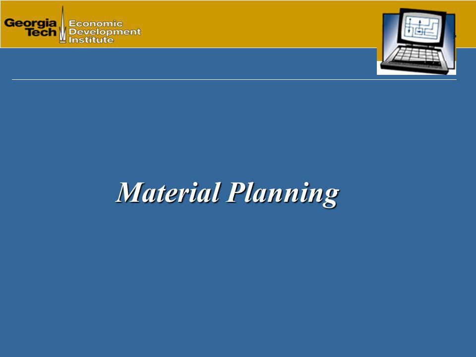 Material Planning