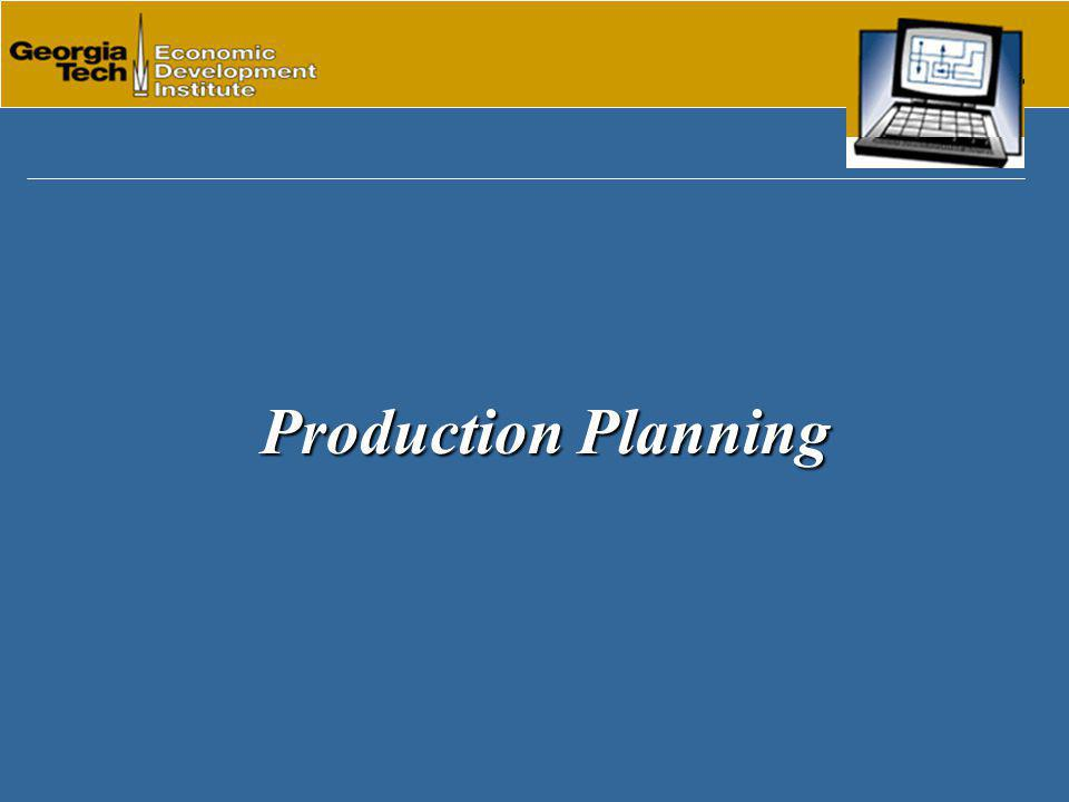 Production Planning