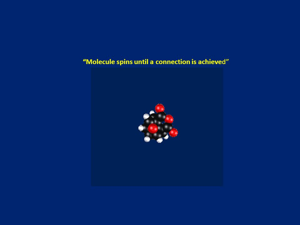 Molecule spins until a connection is achieved