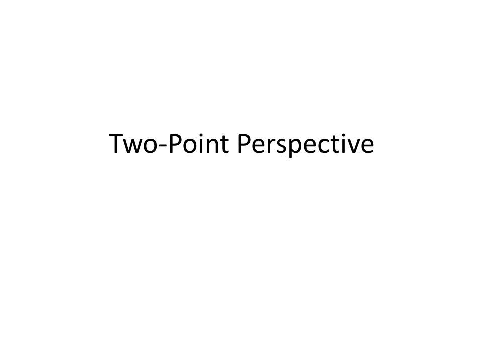 You see two-point perspective when your eye is not perpendicular to the walls.