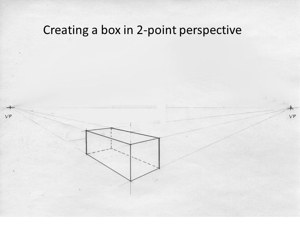 Creating a box in 2-point perspective