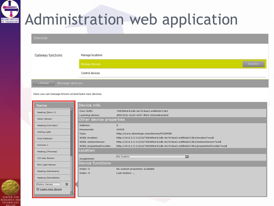 Administration web application
