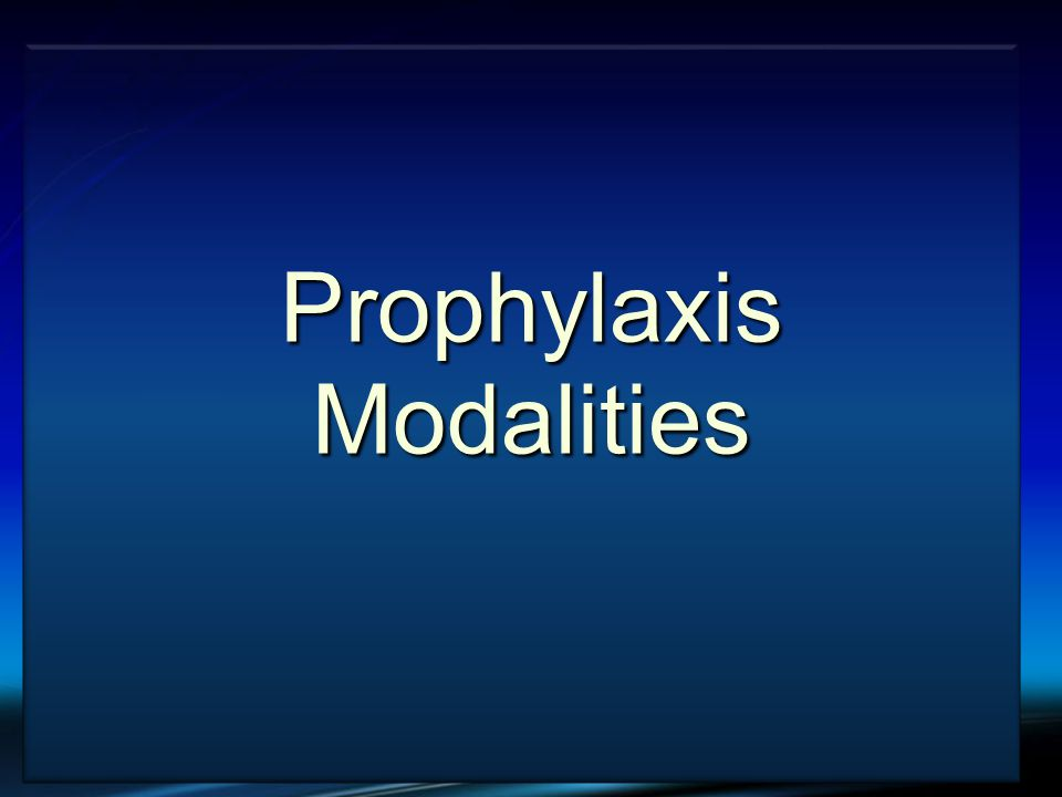 VTE and Cancer Prophylaxis Modalities