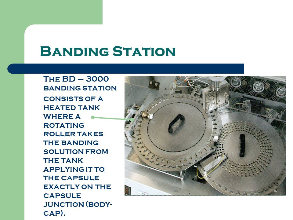 Banding Station The BD – 3000 banding station consists of a heated tank where a rotating roller takes the banding solution from the tank applying it t
