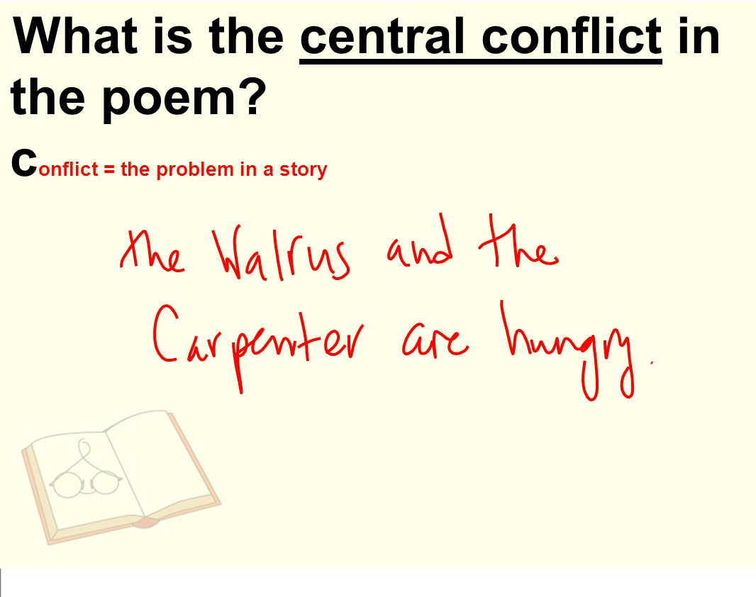 What is the central conflict in the poem c onflict = the problem in a story