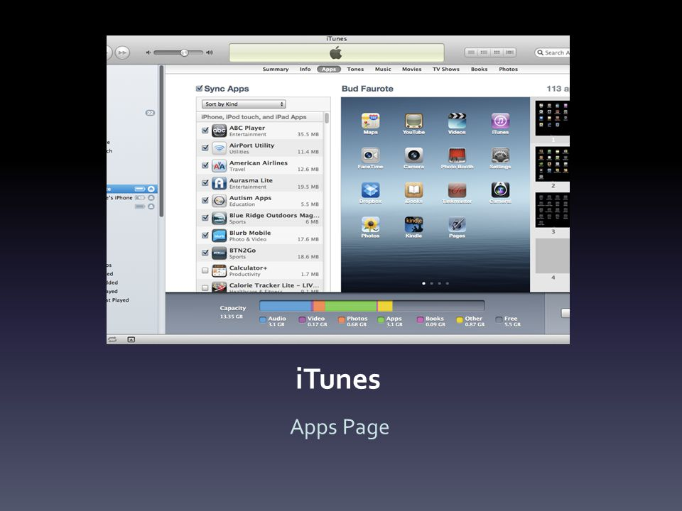iTunes Apps Page