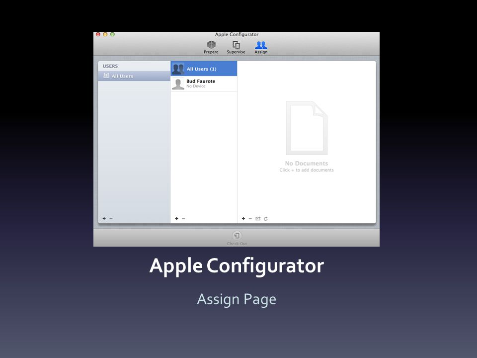 Apple Configurator Assign Page