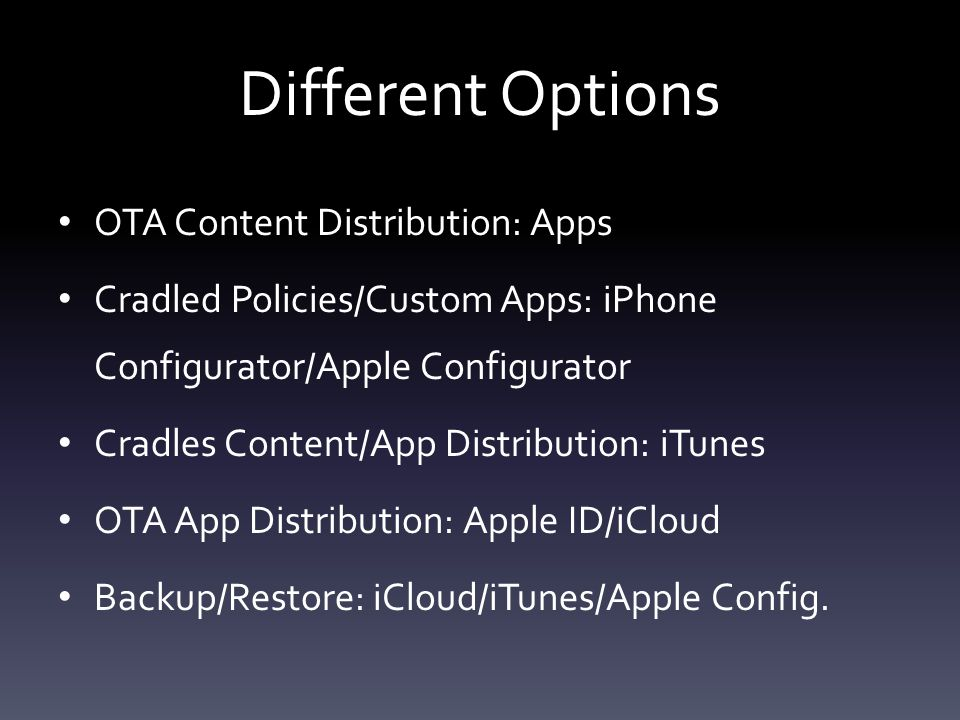 Apple Configurator Prepare-Warning/Apply