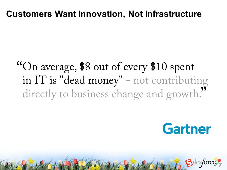 Customers Want Innovation, Not Infrastructure