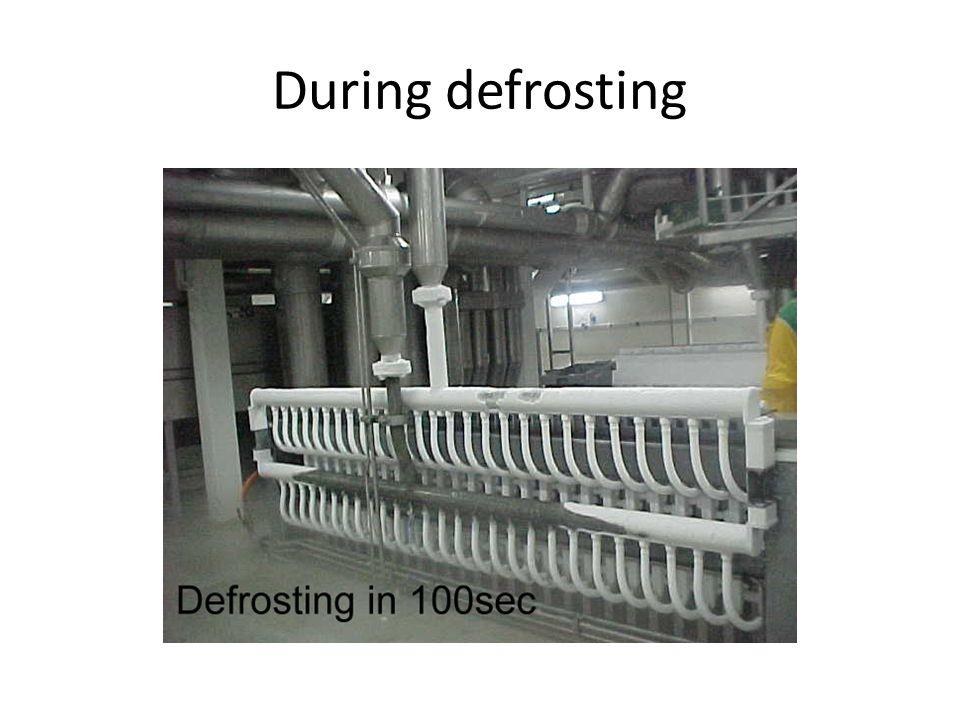 During defrosting