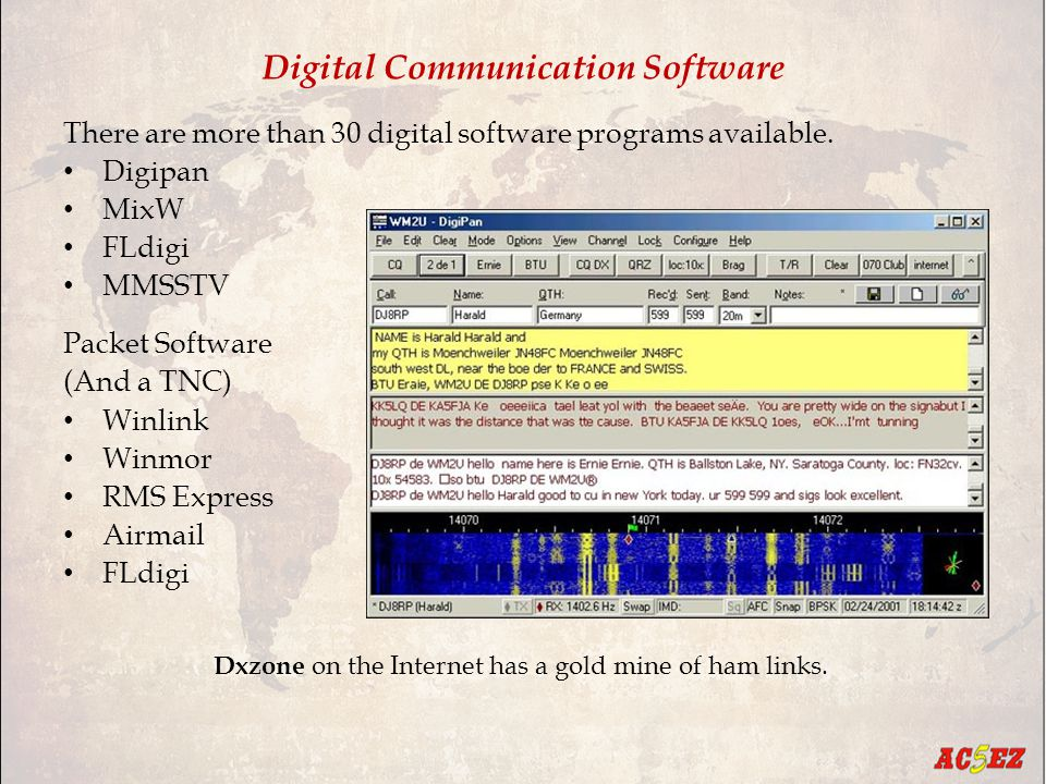 Digital Communication Software There are more than 30 digital software programs available.