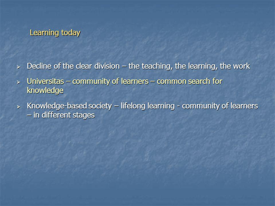Competences – now Competence Basic Level Intermediate Level Advanced Level Maximum level K1Linguisticschoolschool school/ studies K2 Information Technology school school/ studies work …… Kn Entrepreneurship (self management) schoolstudies studia/ praca work