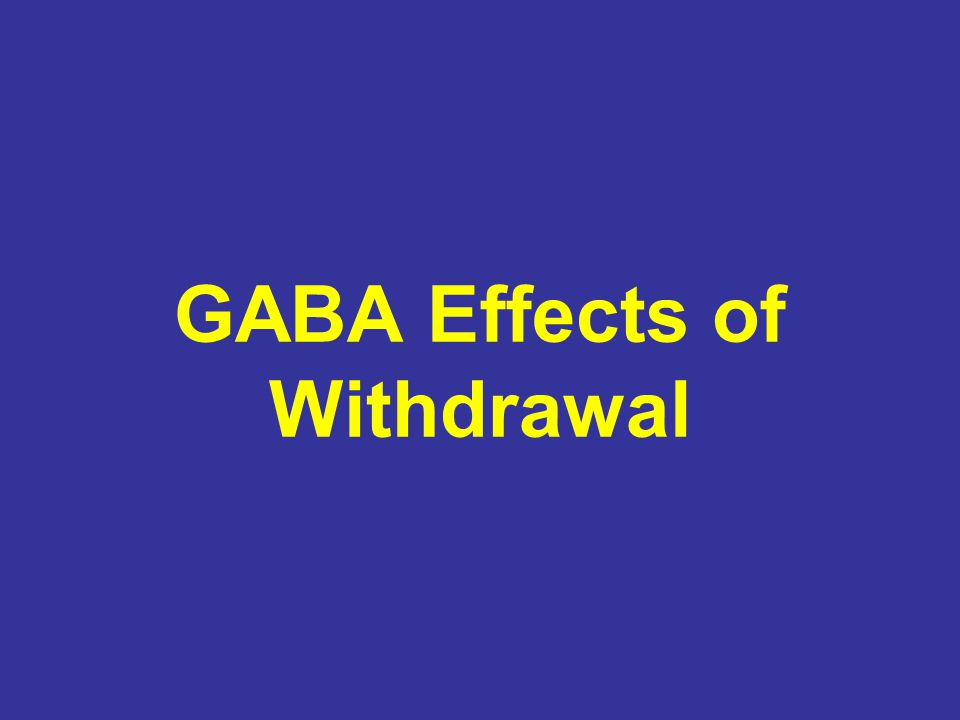 GABA Effects of Withdrawal