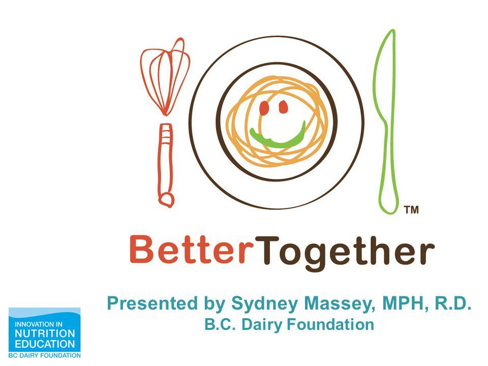 Presented by Sydney Massey, MPH, R.D. B.C. Dairy Foundation