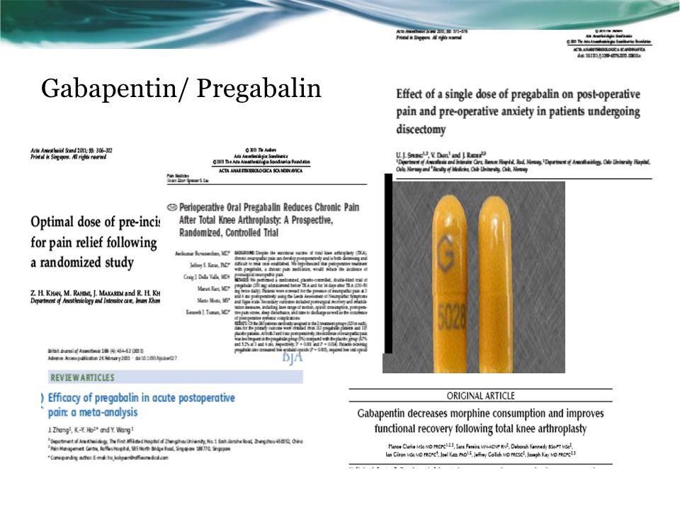 Gabapentin/ Pregabalin