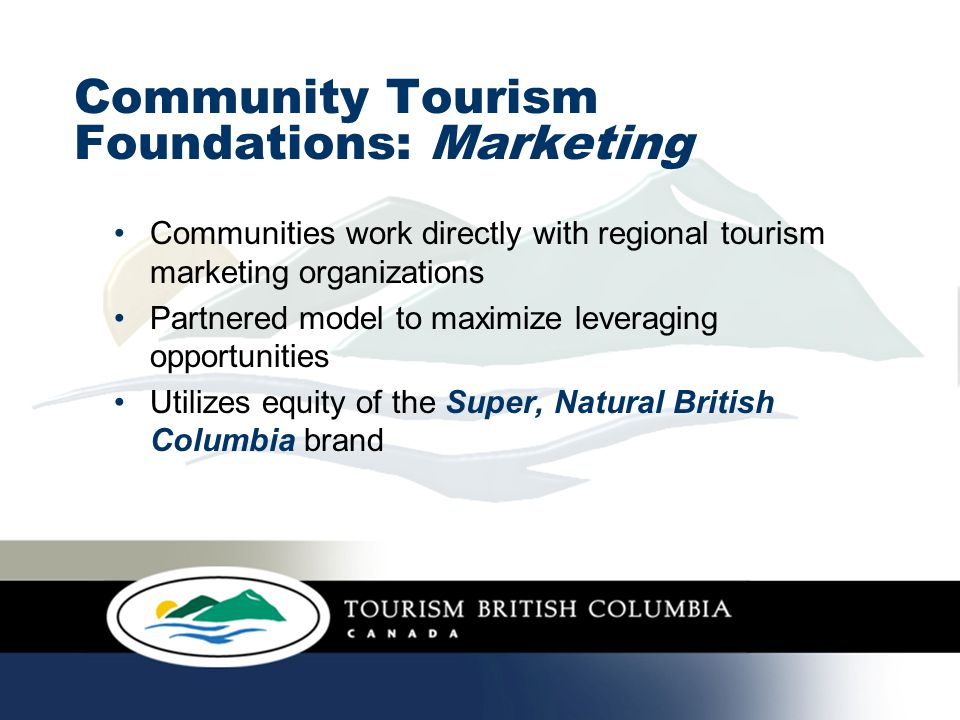 Community GovernmentTourism BCRegionUBCM Tourism Opportunity
