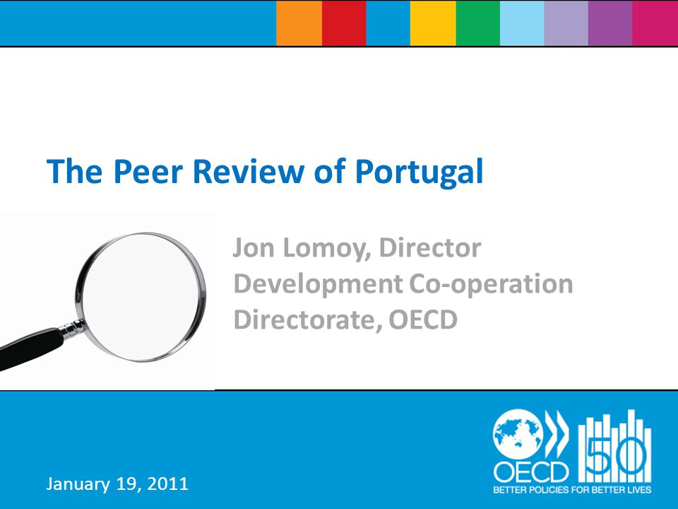 Background  Peer Reviews are a hallmark of OECD work.