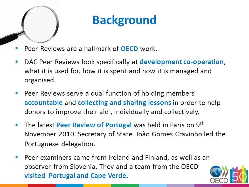 Three important findings from the Peer Review of Portugal 1.