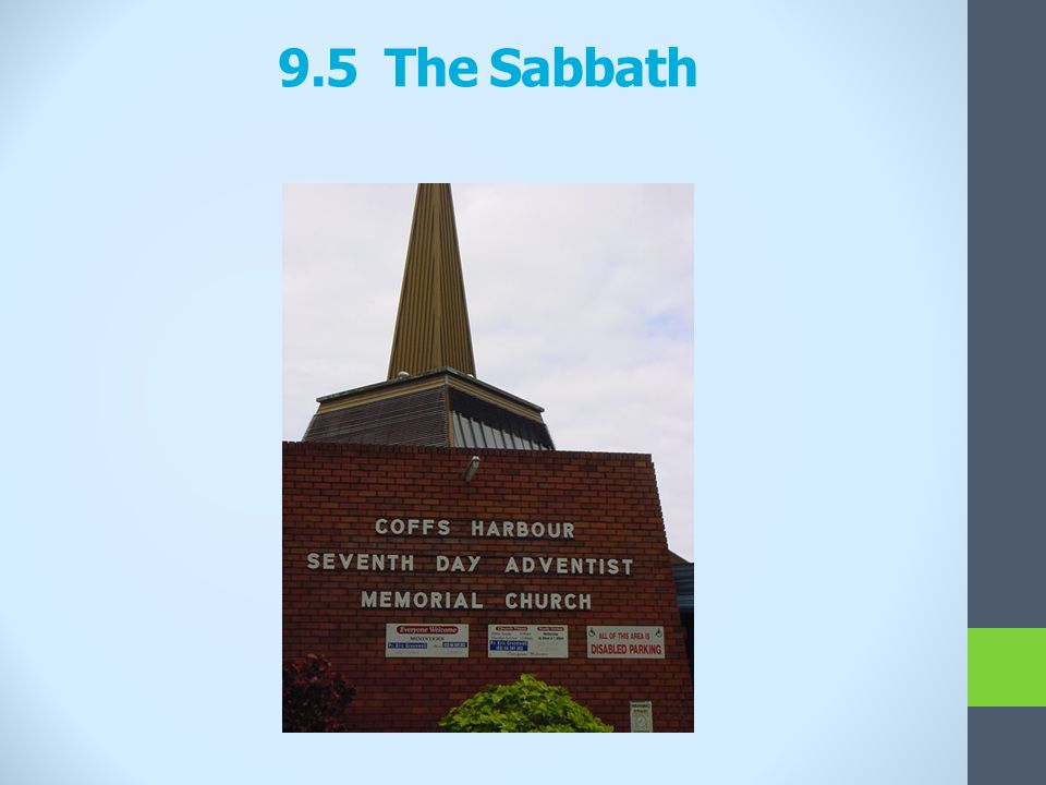 9.5 The Sabbath