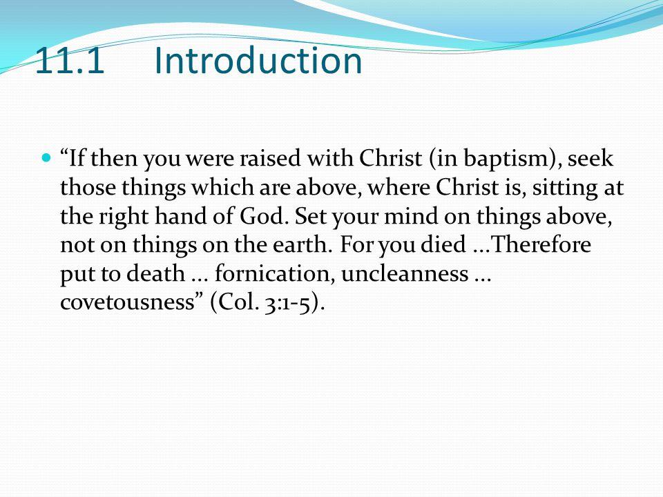 11.2 Holiness