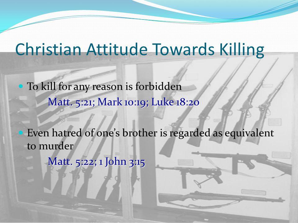 Christ Commands Matt.5:39-40 Non resistance to evil - Matt.