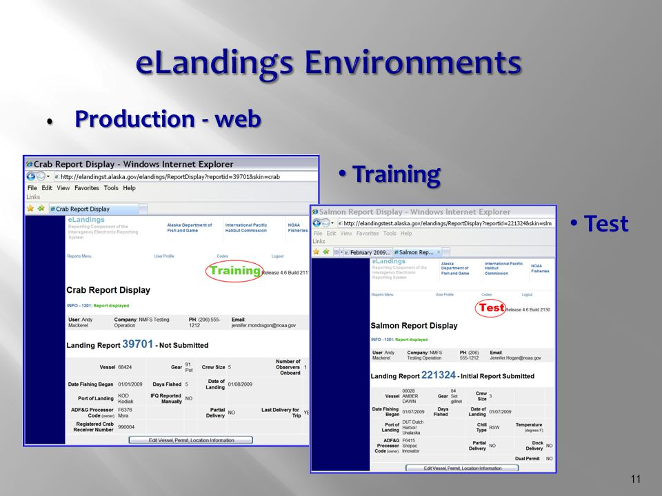11 Production - web Production - web Training Training Test