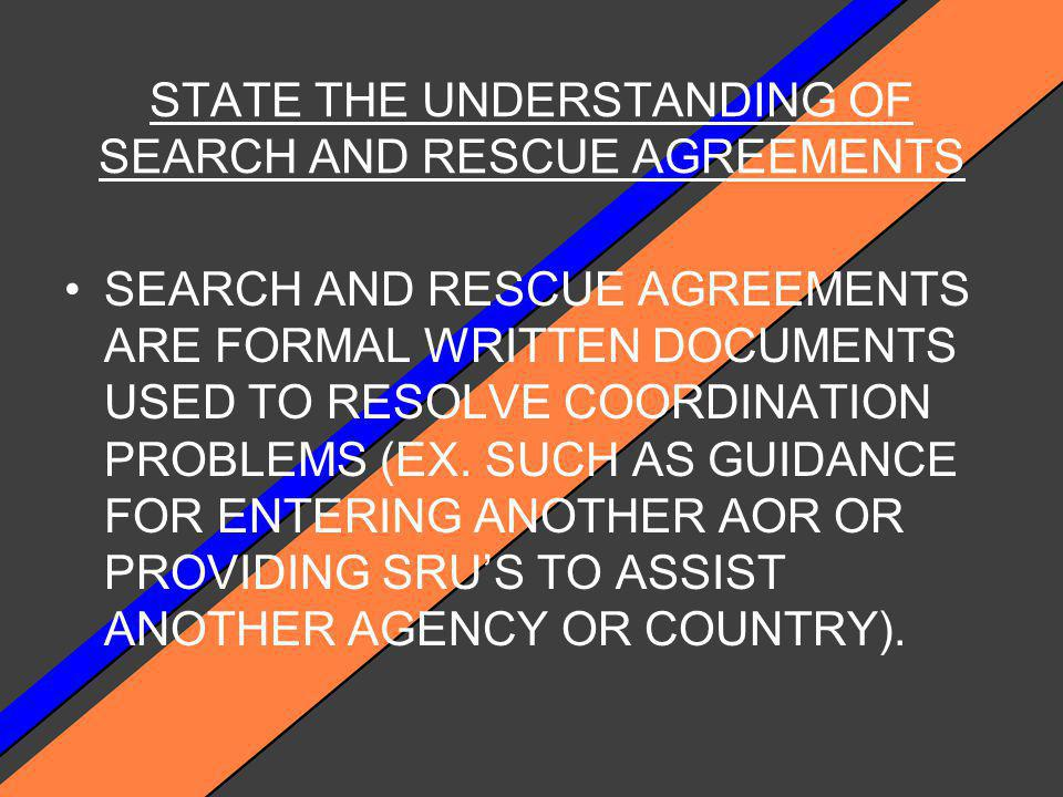 STATUTORY AUTHORITY FOR THE SAR PROGRAM AUTHORITY FOR THE USCG TO CONDUCT SAR MISSIONS IS CONTAINED IN TITLE 14, SECTIONS 2, 88, 141 OF THE US CODE.