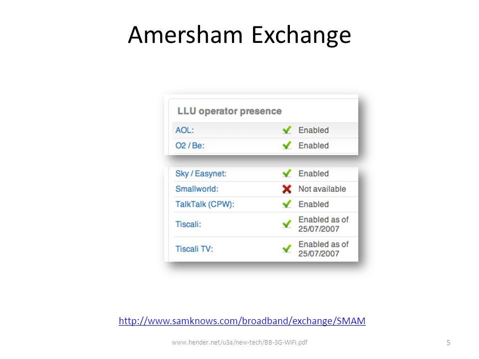 http://www.samknows.com/broadband/exchange/SMAM Amersham Exchange www.hender.net/u3a/new-tech/BB-3G-WiFi.pdf 5