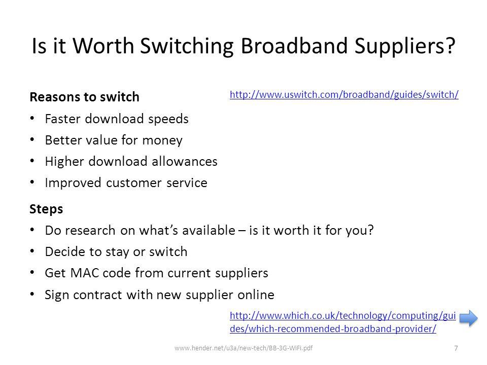 When to use a 'MiFi' '3' Wi-Fi 3G www.hender.net/u3a/new-tech/BB-3G-WiFi.pdf 28