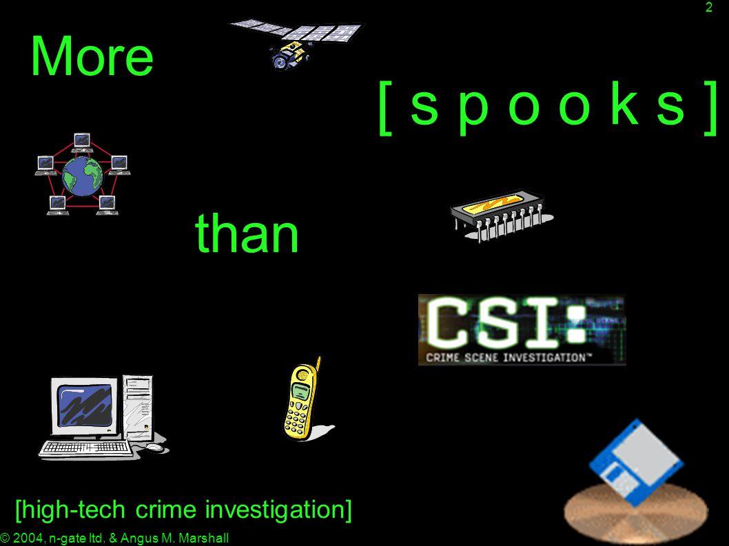 2 [ s p o o k s ] More than [high-tech crime investigation]