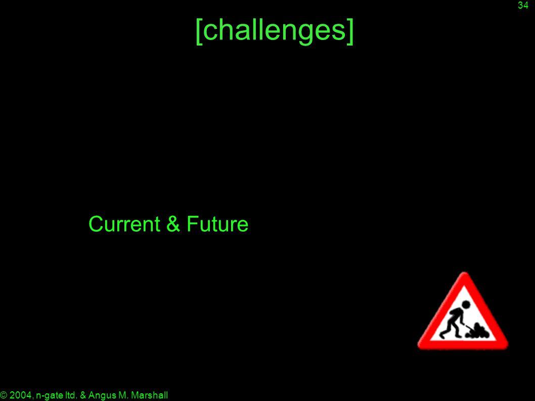 34 © 2004, n-gate ltd. & Angus M. Marshall [challenges] Current & Future