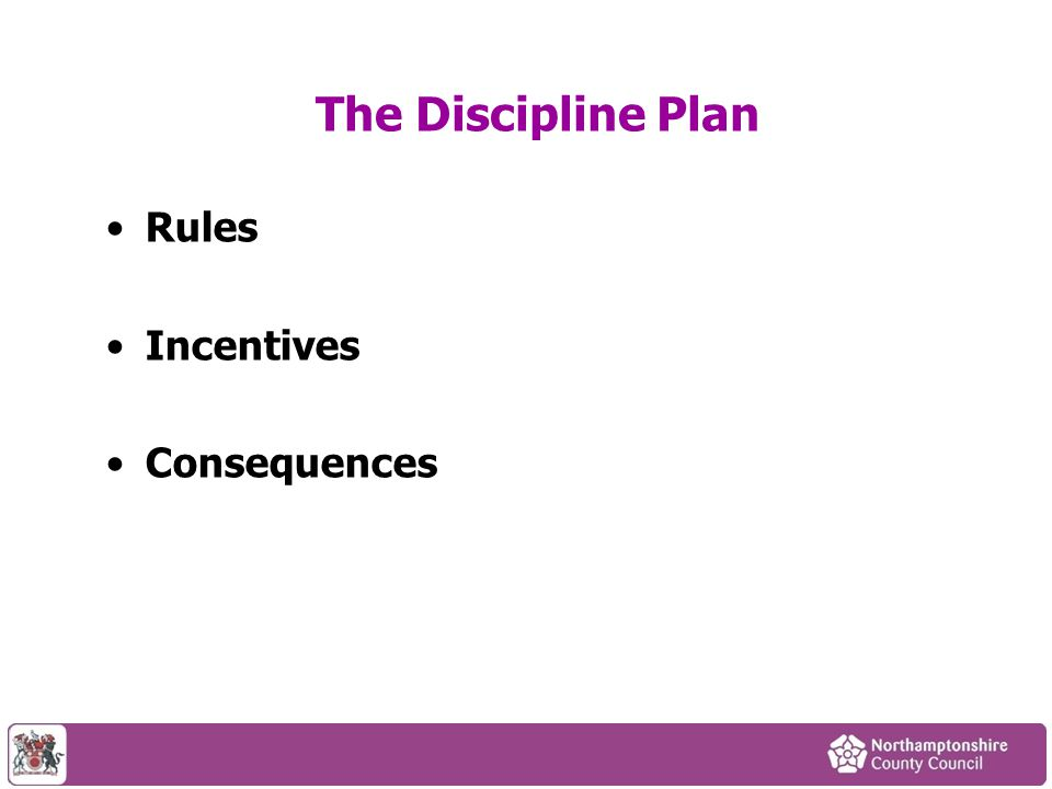 The Discipline Plan Rules Incentives Consequences