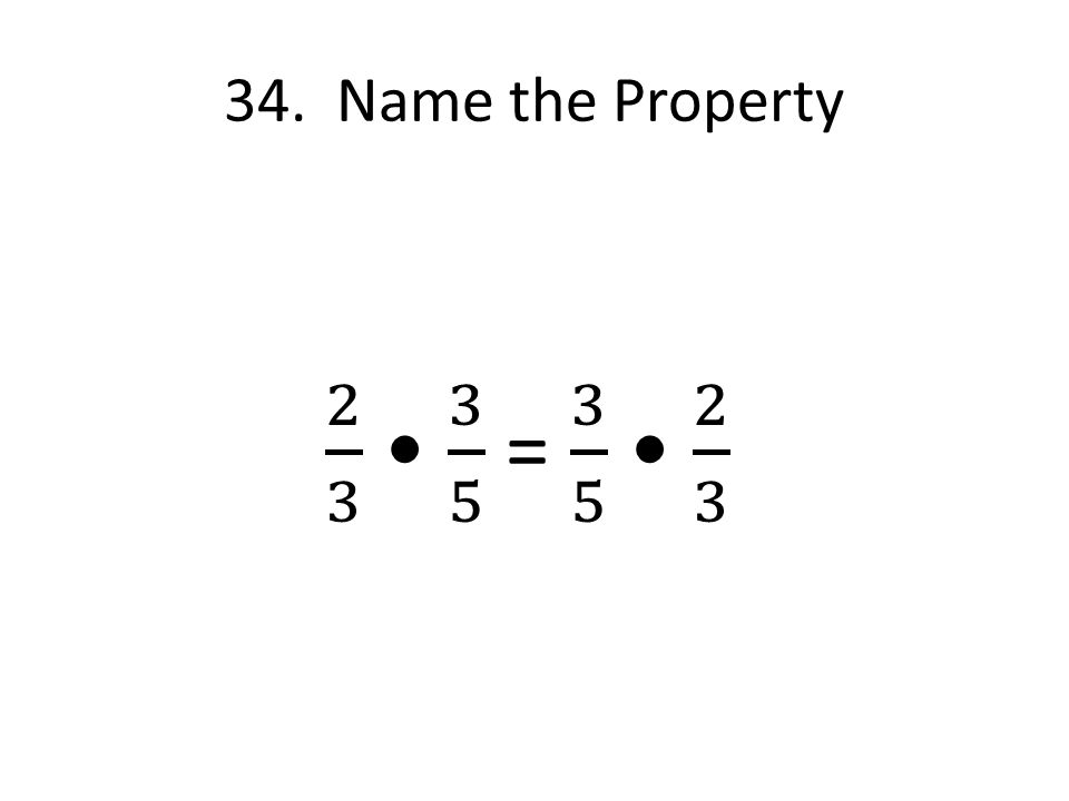 34. Name the Property